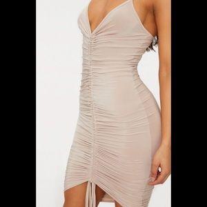 Pretty Little Thing - Nude Strappy Midi Dress